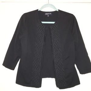 Jones new york Black cardigan size large